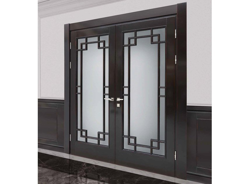 Classic style hinged wooden door CHELSEA by Arnaboldi Interiors