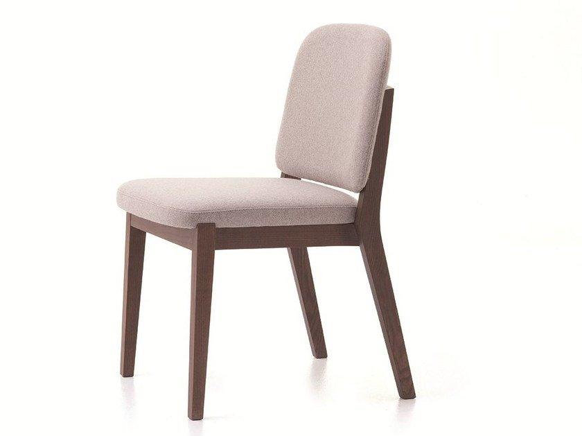 Stackable fabric chair CHELSEA 01 by Very Wood