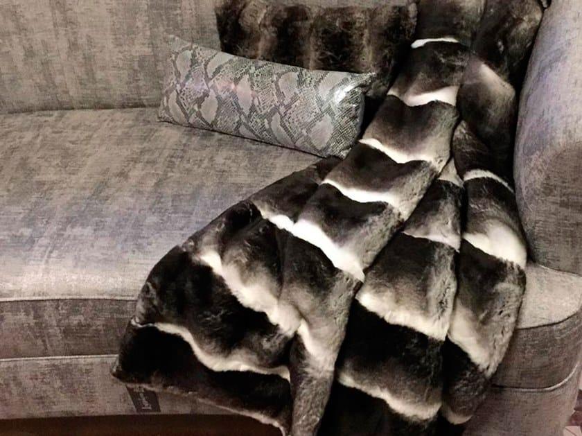 Natural fur throw and cushions CHELSEA by Miyabi casa