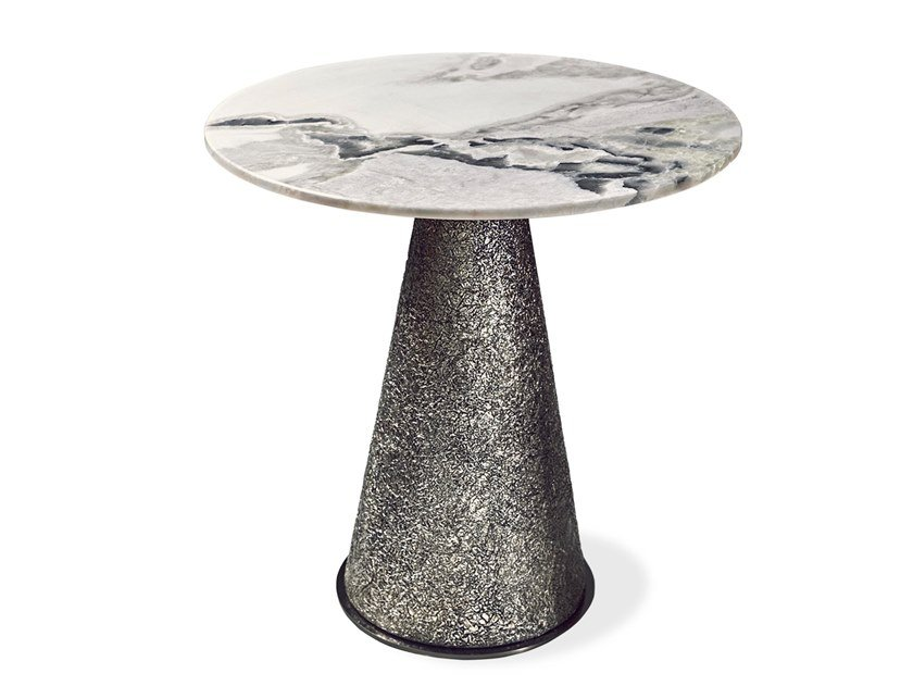 Round marble high coffee table CHEOPE | Round coffee table by Cornelio Cappellini