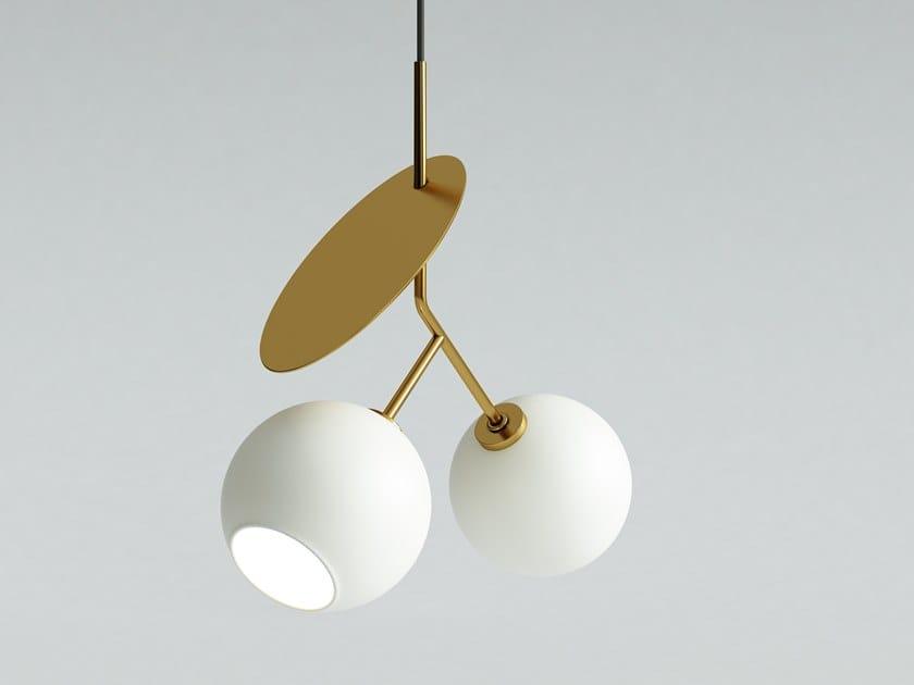 Direct light glass pendant lamp CHERRY 2 by Iwona Kosicka Design