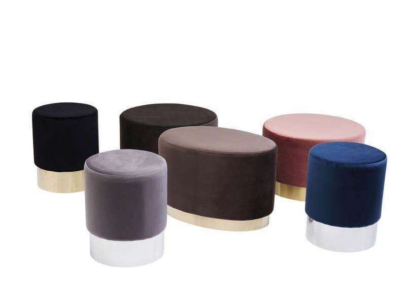 Round fabric pouf CHERRY | Round pouf by KARE-DESIGN