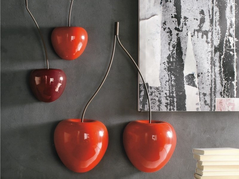 Ceramic wall decor item CHERRY WALL by Adriani e Rossi edizioni