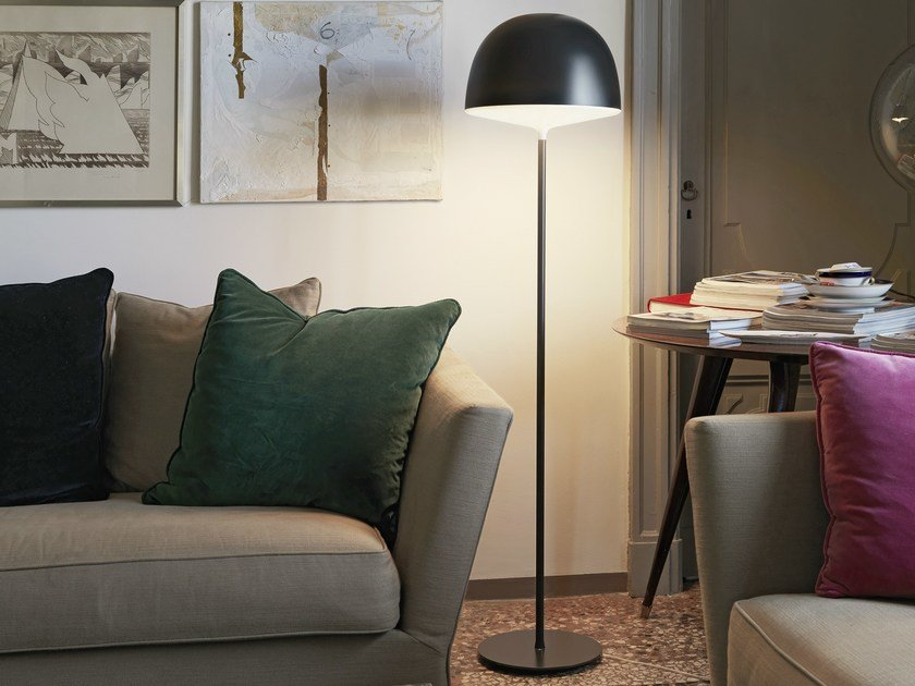 Polycarbonate floor lamp CHESHIRE | Floor lamp by FontanaArte