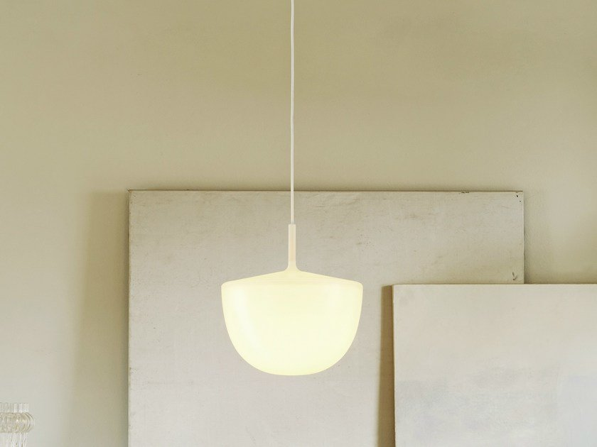 Polycarbonate pendant lamp CHESHIRE | Pendant lamp by FontanaArte