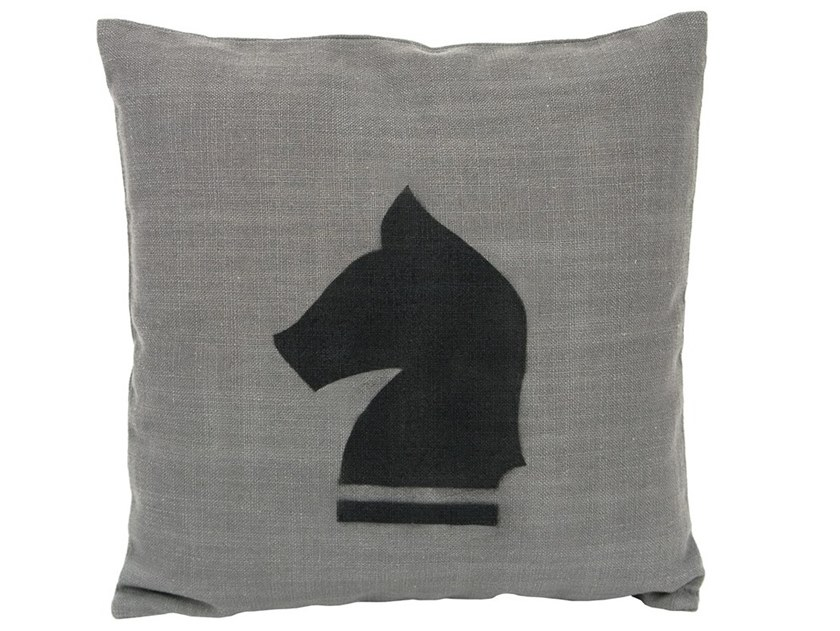 Polyester cushion CHESS HORSE | Cushion by Gie El Home