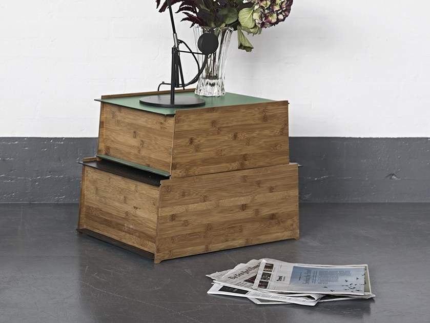 Lacquered bamboo storage unit CHEST 1-2 by We Do Wood