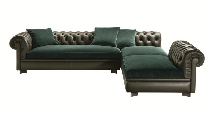Tufted Sectional Sofa CHESTER LINE By Poltrona Frau