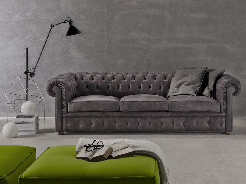 Chesterfield style 4 seater sofa CHESTER NYX by Flexstyle