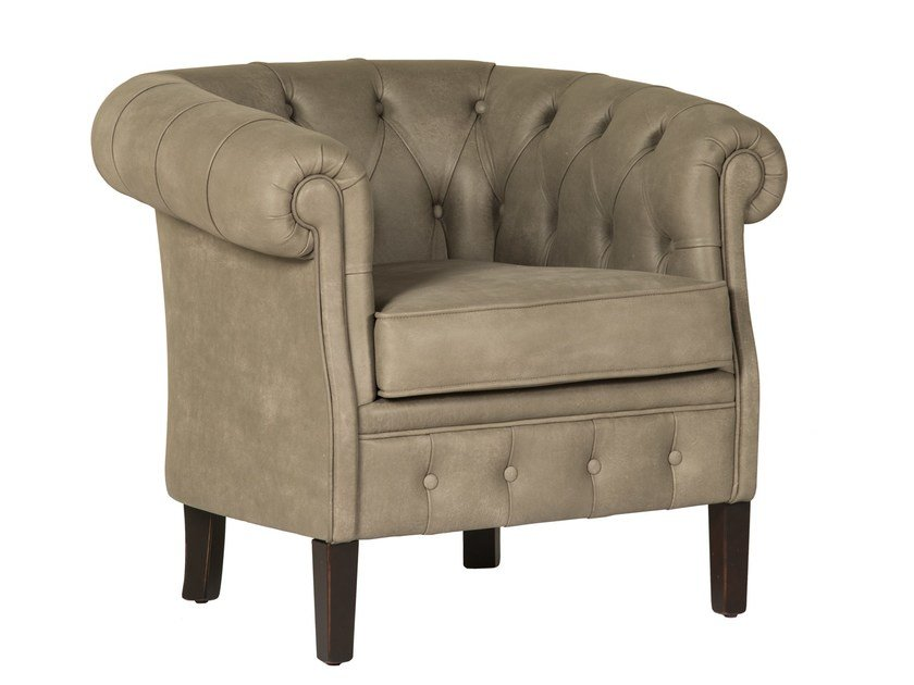 Tufted armchair CHESTER by SELVA