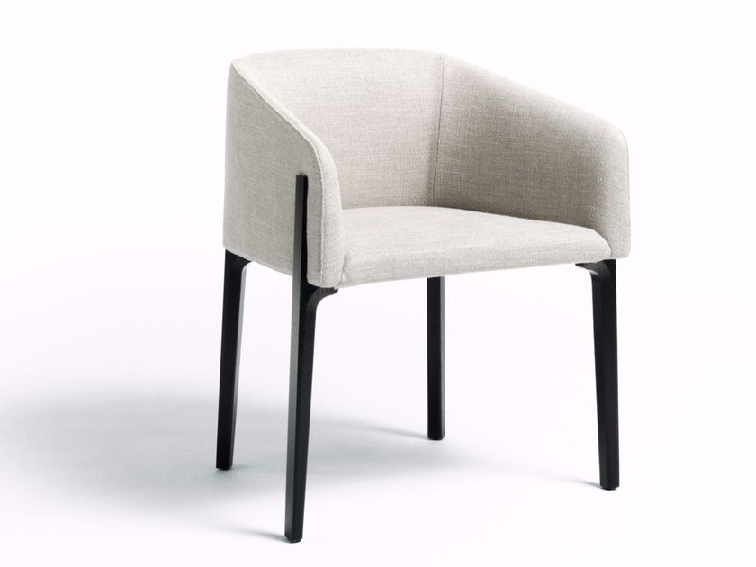 Fabric easy chair with removable cover CHESTO by DE PADOVA