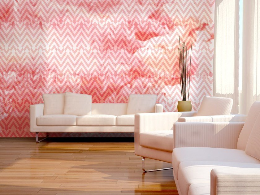 Geometric nonwoven wallpaper CHEVRON by MyCollection.it