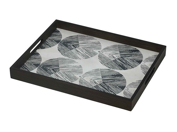 Rectangular wooden tray CHEVRON by Notre Monde