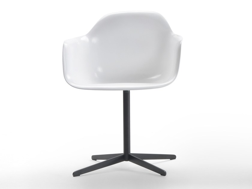 Baydur® chair with 4-spoke base with armrests CHIA | Baydur® chair by Marelli