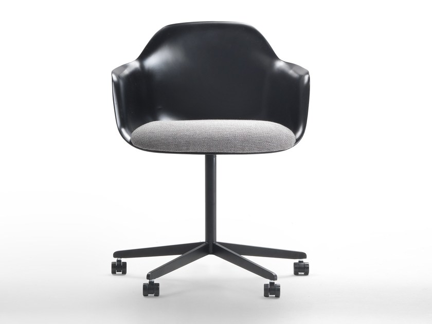 Chair with 4-spoke base with armrests with casters CHIA | Chair with casters by Marelli