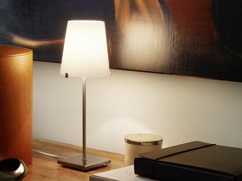 Blown glass table lamp CHIARA by FontanaArte