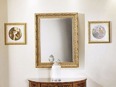 Wall-mounted framed mirror CHIARA | Mirror by Arvestyle