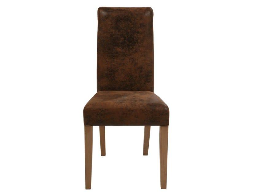 Upholstered fabric chair CHIARA TEAK/VINTAGE by KARE-DESIGN