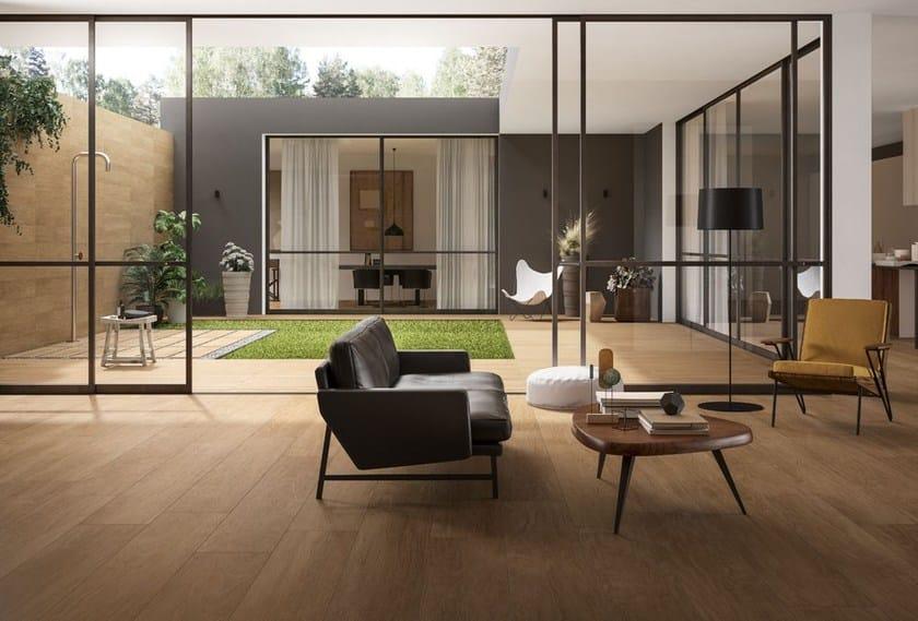Pavimento per esterni in gres porcellanato effetto legno chic wood