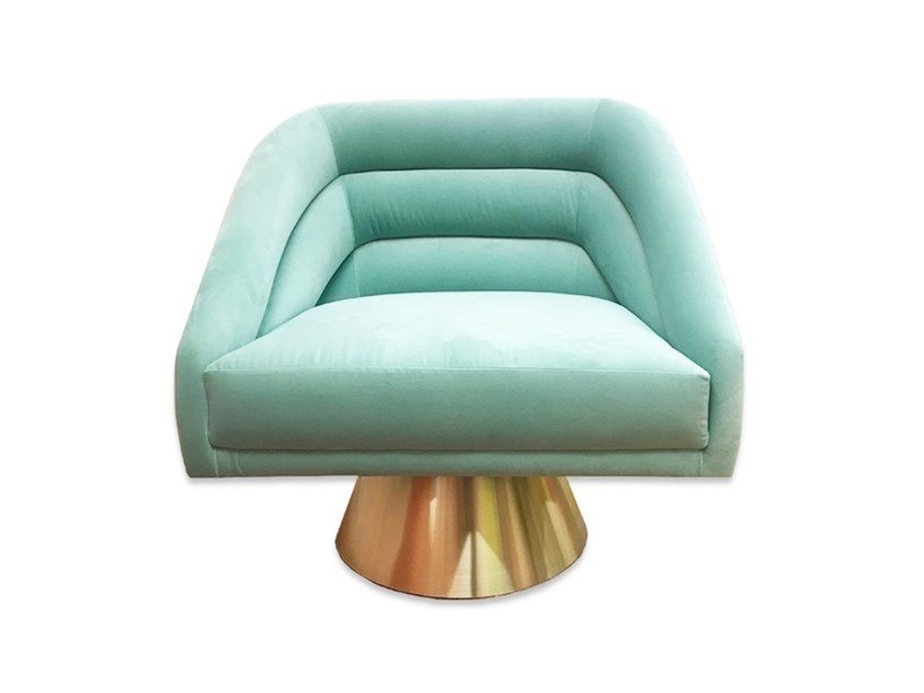 Fabric armchair CHICAGO by Moanne
