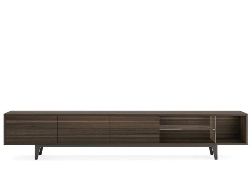Low wood veneer TV cabinet CHICAGO by PRADDY