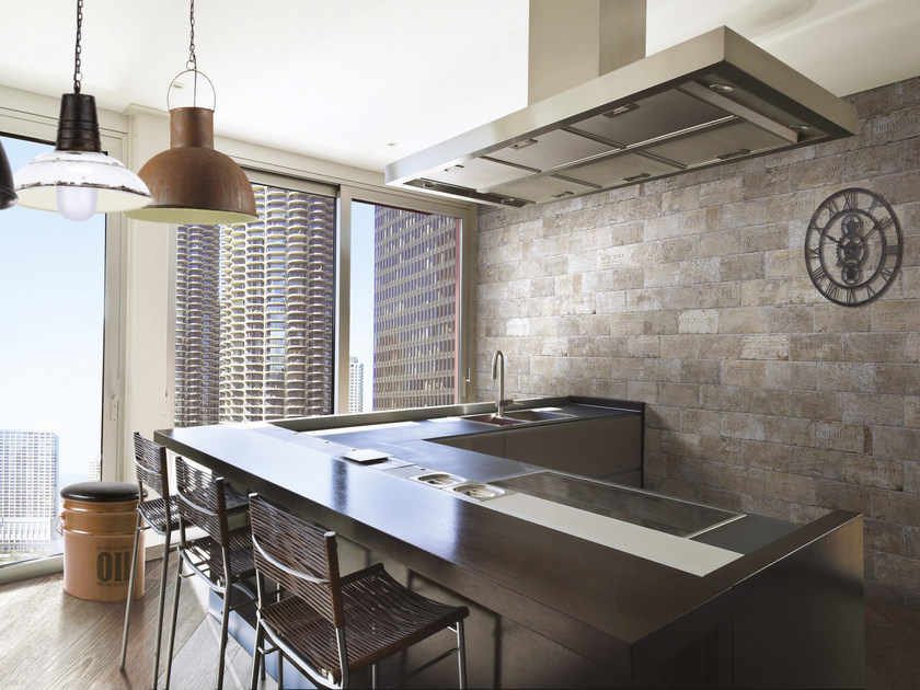Glazed stoneware wall tiles with brick effect CHICAGO | Wall tiles by CIR