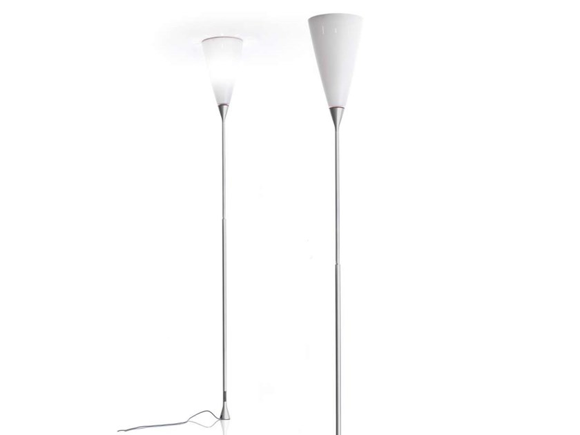 LED aluminium and polycarbonate floor lamp CHICHIBIO by LUCEPLAN