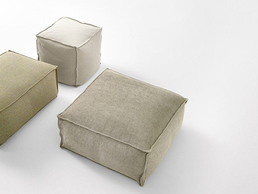 Upholstered square pouf CHICO | Square pouf by Novamobili