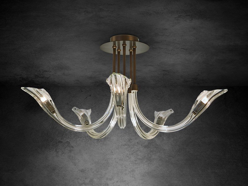 Contemporary style indirect light crystal ceiling lamp CHILL OUT C5 by ILFARI