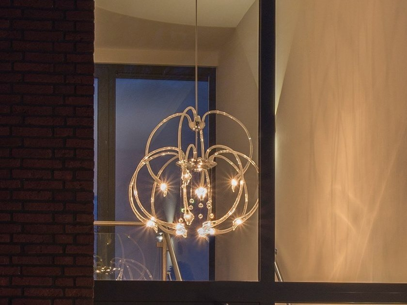 Direct light pendant lamp with swarovski® crystals chill out h12 by