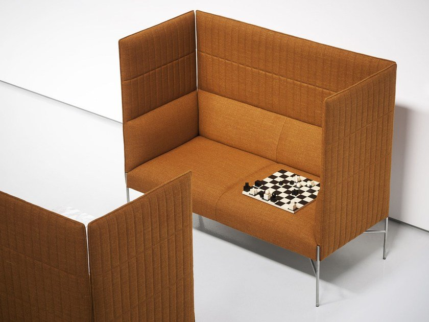 Modular High Back Fabric Leisure Sofa CHILL OUT HIGH | High Back Sofa