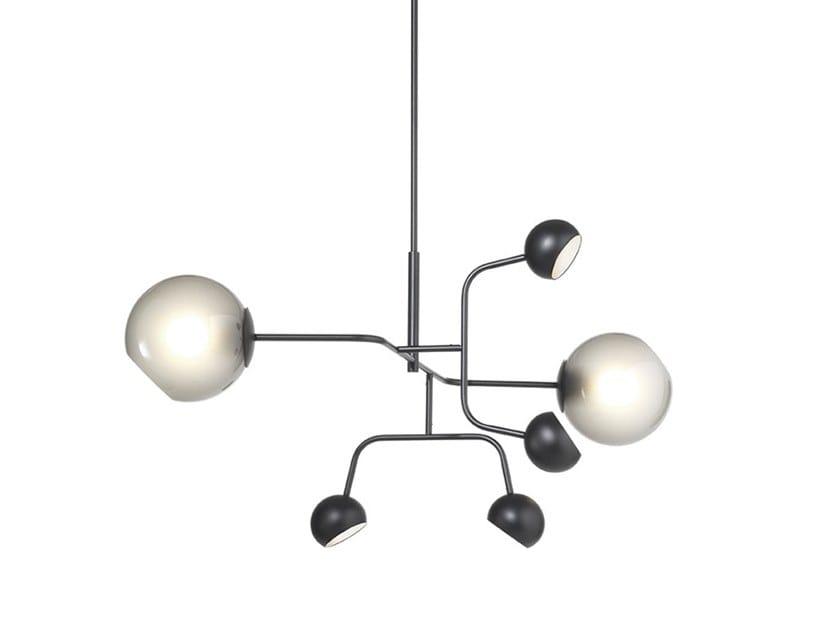 Lampada a sospensione a LED in metallo verniciato CHILL | Lampada a sospensione by M.M. Lampadari