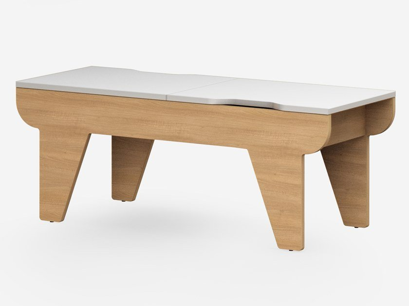 Lacquered coffee table with storage space CHILLOUT | Coffee table by Mikomax Smart Office
