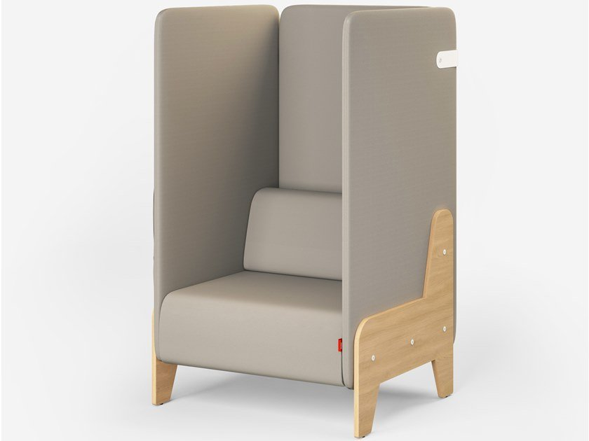 Acoustic high-back fabric armchair CHILLOUT | High-back armchair by Mikomax Smart Office