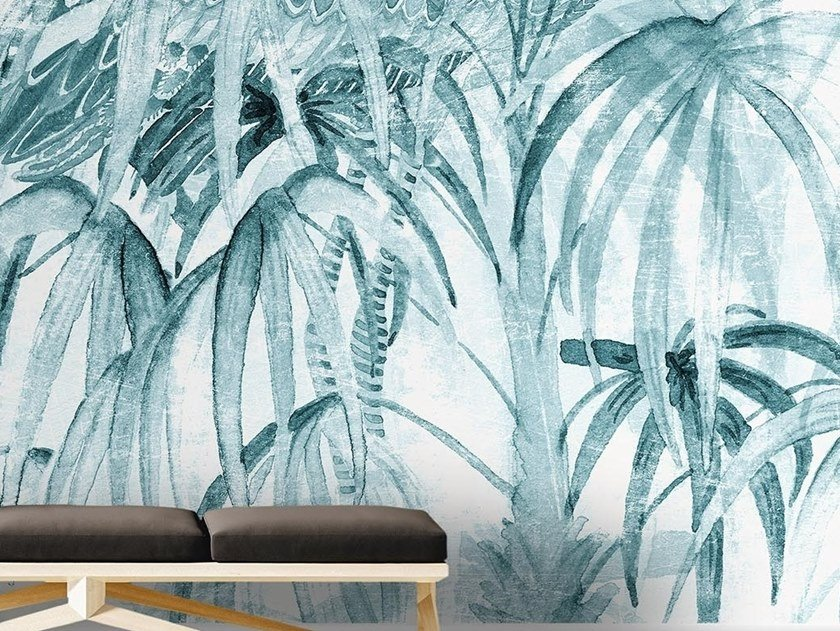 Tropical wallpaper, PVC free, eco, washable CHINELEAVES by Wallpepper Group