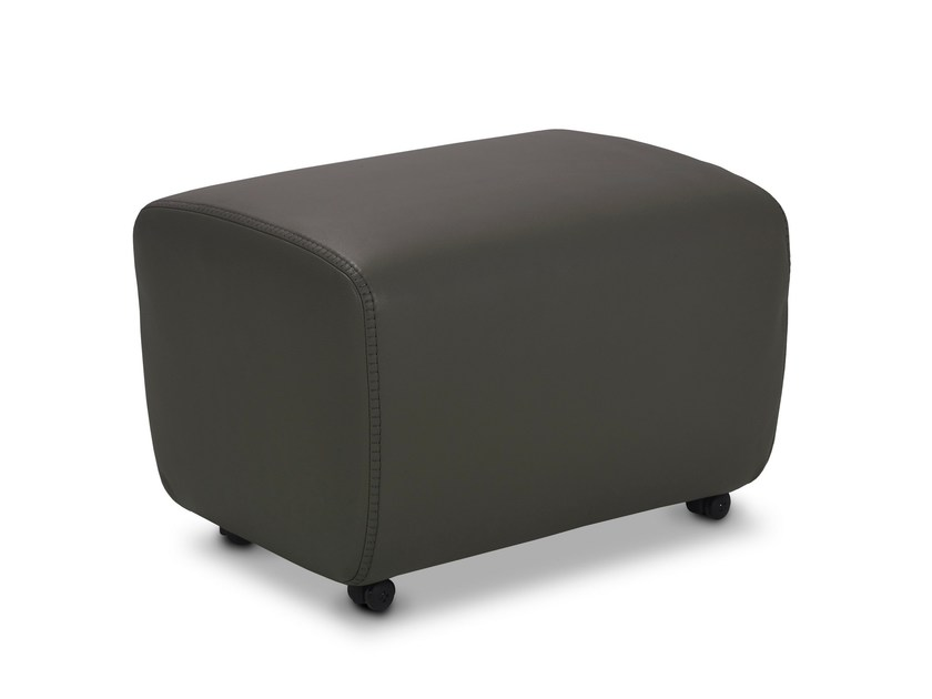Rectangular pouf with casters CHINOOK JR-P291 by JORI