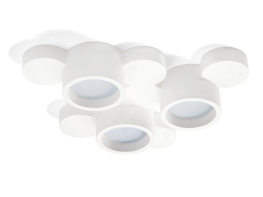 Plaster ceiling lamp CHIO by Sforzin