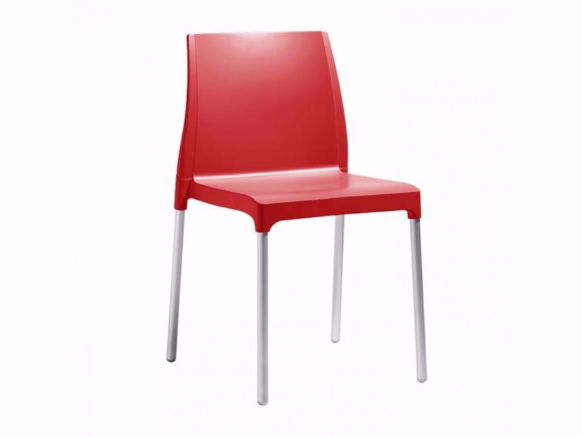 Sedia in tecnopolimero con gambe in alluminio CHLOÉ MON AMOUR   Sedia in tecnopolimero by SCAB DESIGN