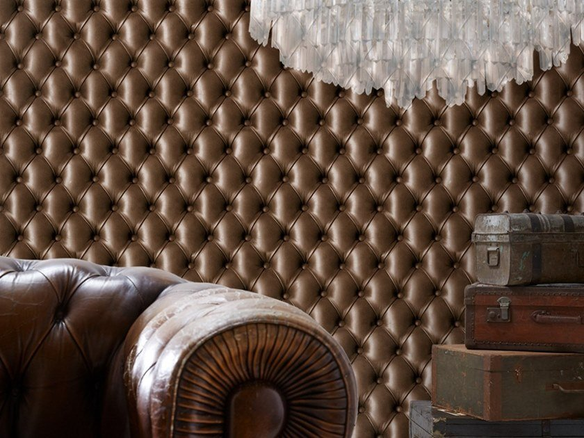 Wallpaper TUFTED LEATHER by Koziel