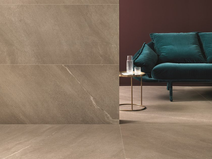 Porcelain stoneware wall/floor tiles with stone effect CHORUS BEIGE by CERAMICHE KEOPE