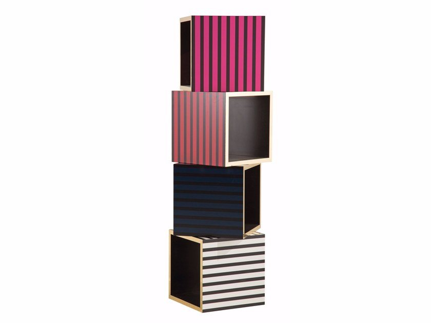Sectional lacquered modular bookcase CHRISTIAN LACROIX MAISON | Bookcase by ROCHE BOBOIS