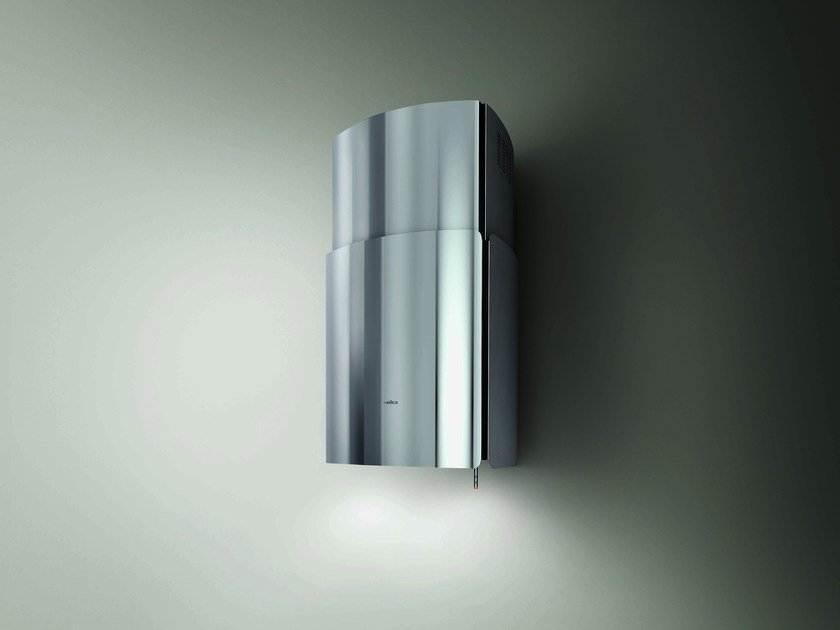 Wall-mounted stainless steel cooker hood CHROME WALL by Elica