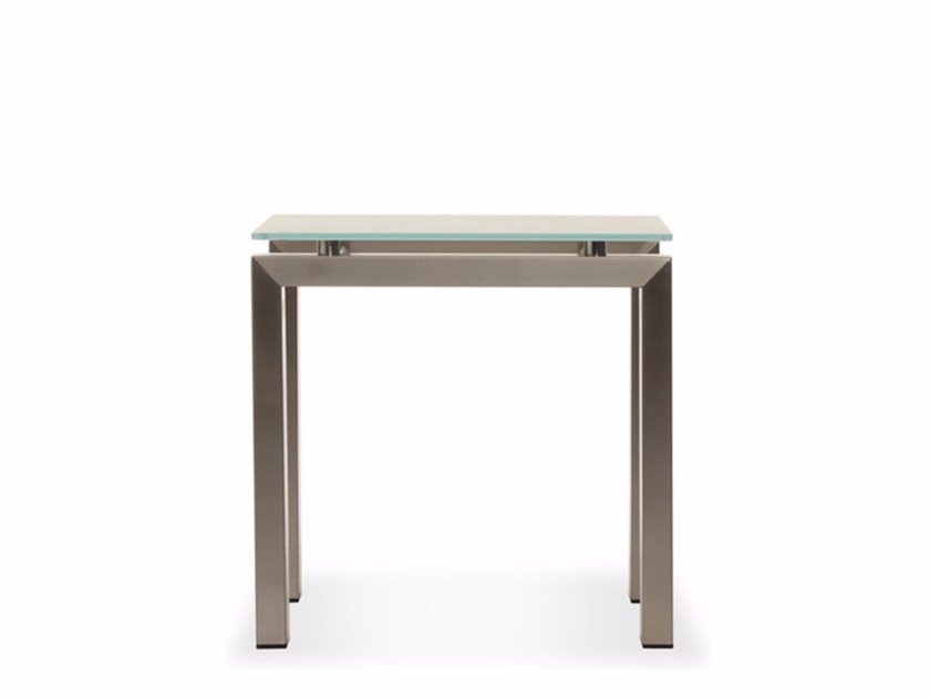 Square Xeramica coffee table CHROMINOX | Coffee table by Joli