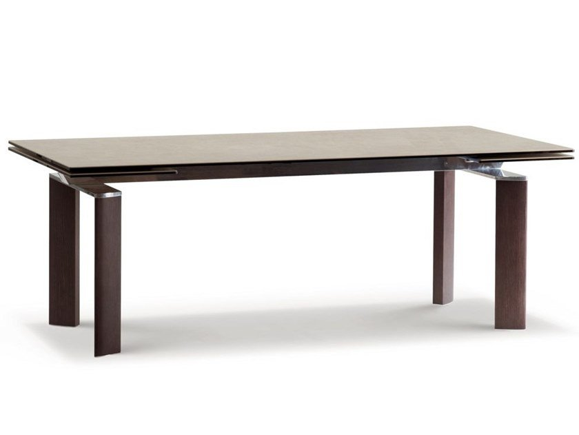 Rectangular wooden dining table CHRONOWOOD by ROCHE BOBOIS
