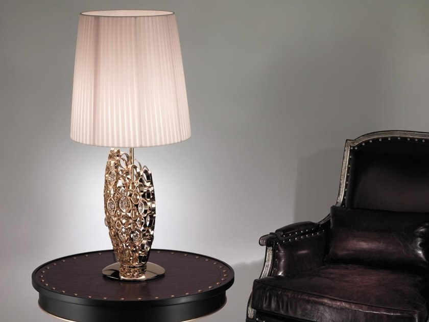 Metal table lamp with Swarovski® crystals CHRYSALIS | Table lamp with Swarovski® crystals by IDL EXPORT