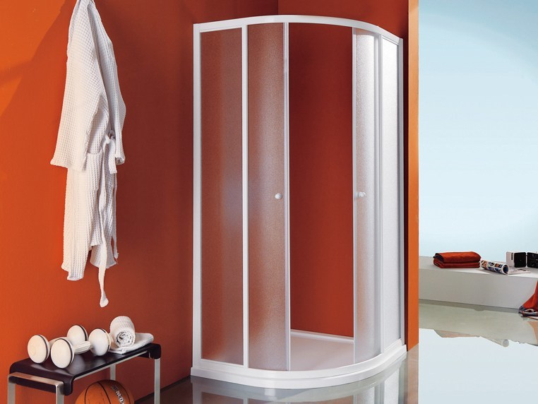 Corner semicircular shower cabin with tray CIAO | Semicircular shower cabin by Samo