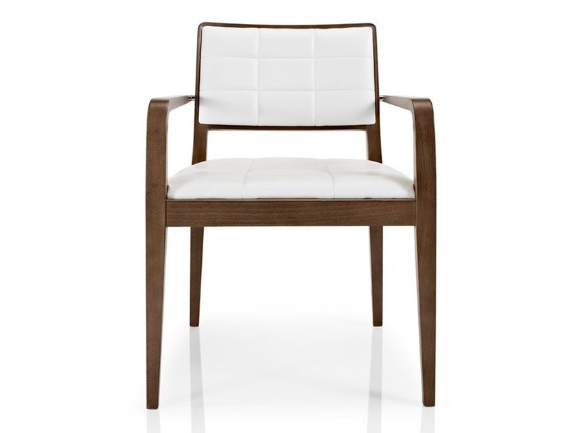 Leather chair with armrests CIBELLE | Chair with armrests by JMS