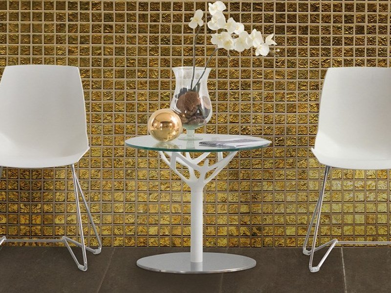 Round glass coffee table CICERONE | Coffee table by Caimi Brevetti
