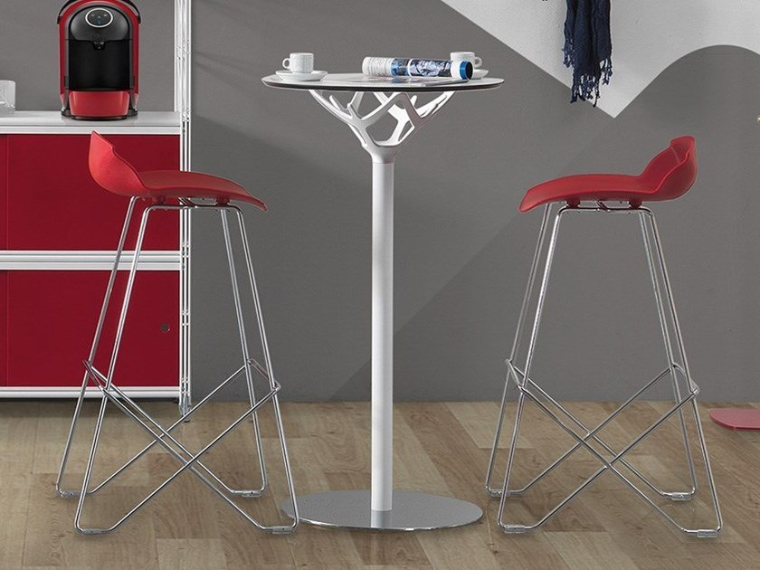 Round high table CICERONE | High table by Caimi Brevetti