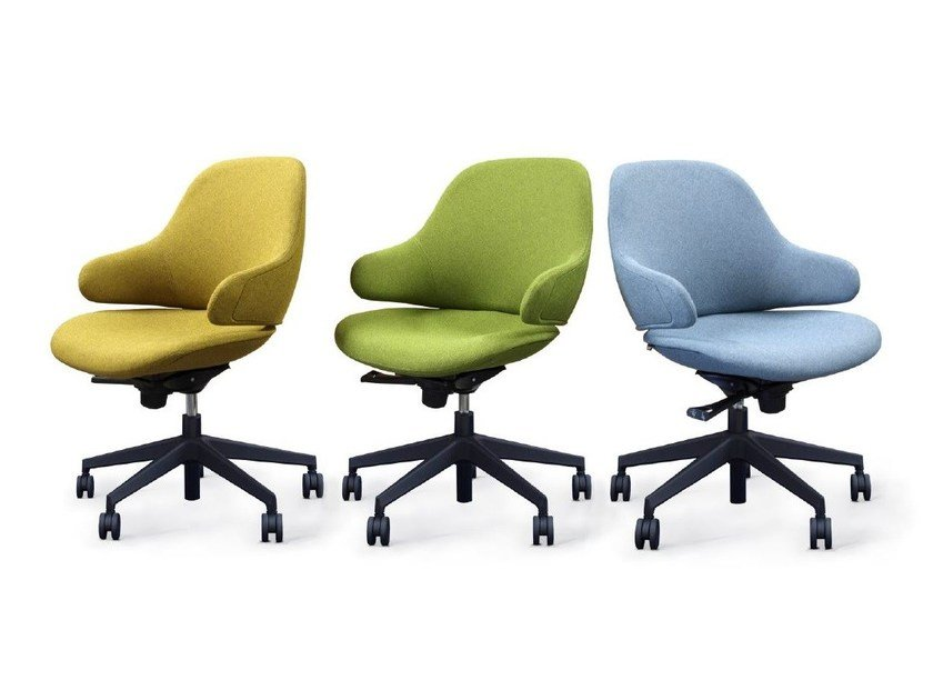 Leather task chair with 5-Spoke base CIEL! OFFICE by TABISSO